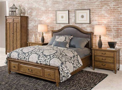 americana bedroom american drew americana home highland leather storage