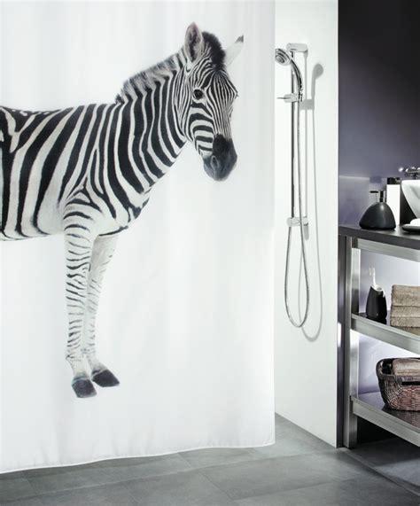 duschvorhang mit bleiband duschvorhang spirella zebra