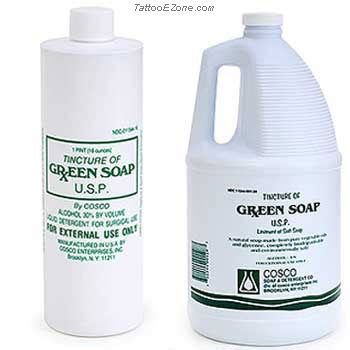 soap to use on tattoo cosco tincture green soap