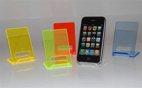 cell phone stand for funky neon mobile phone stand