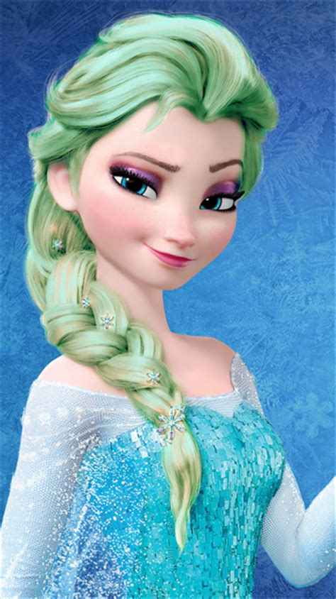 Light Green Hair by Frozen Images Elsa Light Green Hair Color Wallpaper And