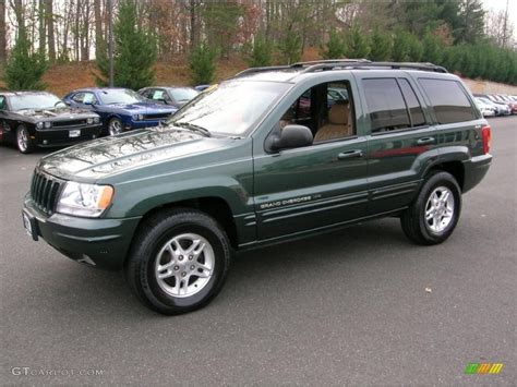green jeep grand cherokee 2000 shale green metallic jeep grand cherokee limited 4x4