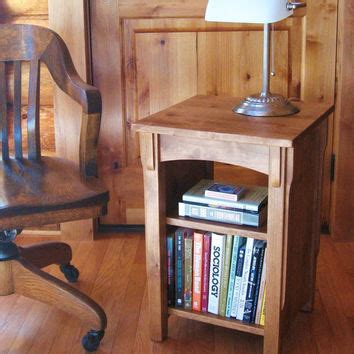 bookcase end table handmade alder wood from