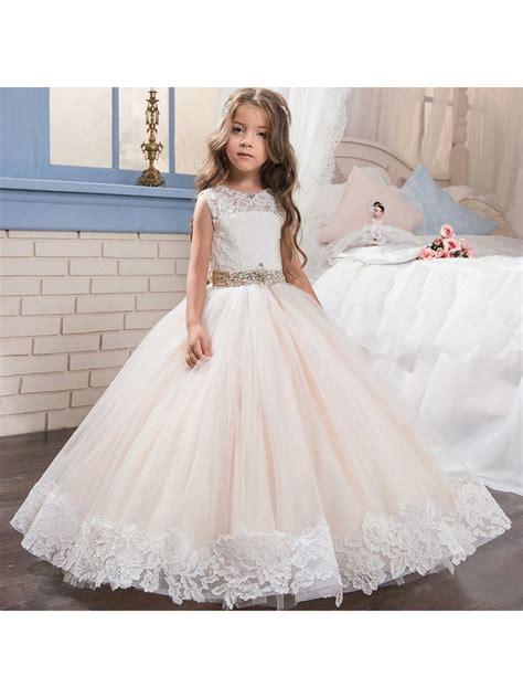 beaded flower dresses beaded lace princess gown flower dresses 5501016