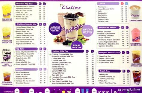 design menu minuman new daftar harga chatime jakarta list