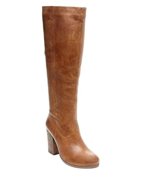 steve madden knee high boots steve madden hudsun knee high leather boots in brown lyst