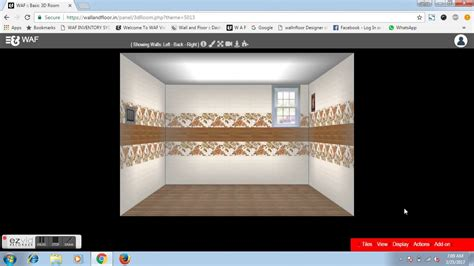 visualizer online automatic design wall tile pattern by wall and floor 3d