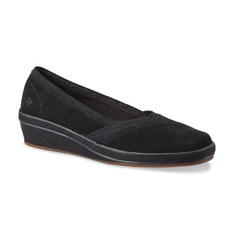 Wedges Slip On Va grasshoppers s tessa black wedge slip on shoe