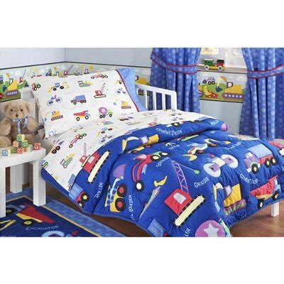 Toddler Bedding Set For Boys Construction Trucks Sheets Boys Olive Slumberland Beds