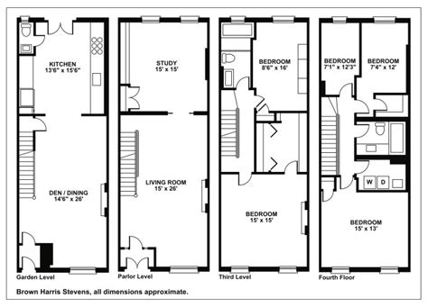 brownstone floor plans new york city new york brownstone house plans