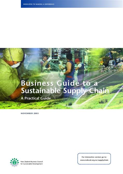 The Sustainable Mba A Business Guide To Sustainability Pdf by Business Guide To A Sustainable Supply Chain