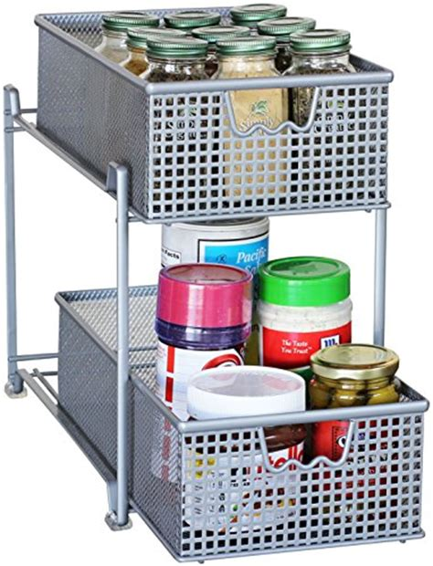 sliding cabinet organizers kitchen storage basket organizer sliding drawer kitchen under