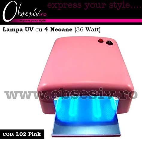 ikonna uv l 36 watt la uv unghii gel cu 4 neoane 36 watt l02 pink