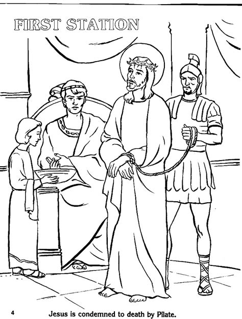 Stations Of The Cross Coloring Pages Az Coloring Pages