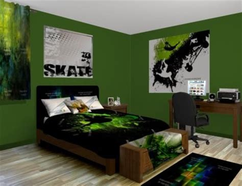 green themed bedroom skateboard green bedroom theme featured at http www