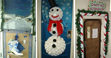 office christmas door decorating contest decorated doors appearing throughout cus salvetoday salvetoday