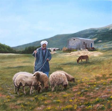 berger le le berger tunisien on canvas michel de ruyck