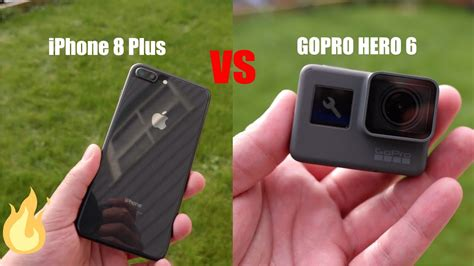 iphone 8 plus vs gopro 6 4k 60fps stabilization shootout