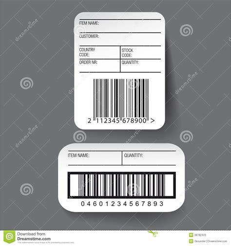 barcode label template barcode label template vector stock vector image 38782423