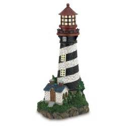 solar powered lighthouse outdoor nautical decor