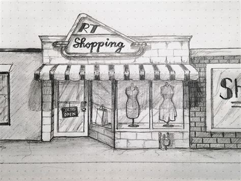 Shopping Sketch By L2d Dribbble