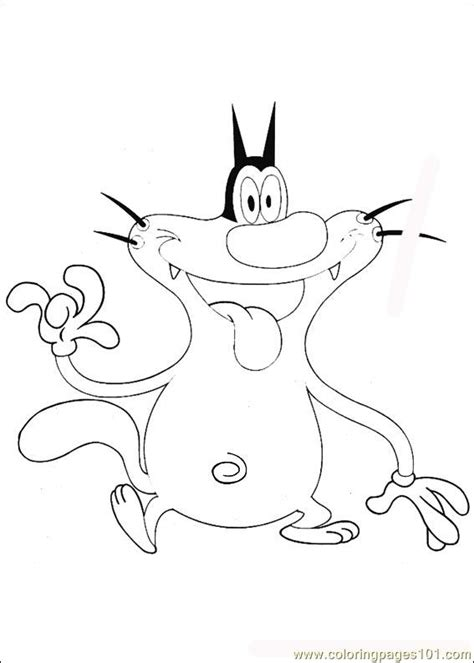 Oggy Coloring Pages Online | oggy colouring pages