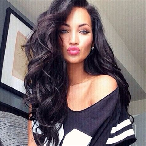 long dark hair with volume pinterest 25 best ideas about big loose curls on pinterest big
