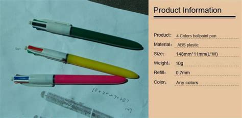 Pena Ballpoint Multi Warna 6 In 1 plastic 4 in 1 pen with 4 colors pen 4 colors refill ballpoint pens bic colors pen for