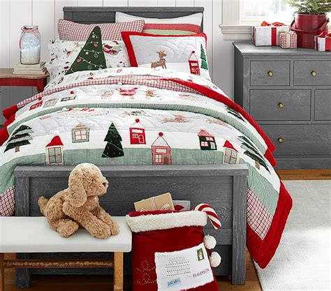 pottery barn christmas bedding add a bit of holiday to your kids room project nursery