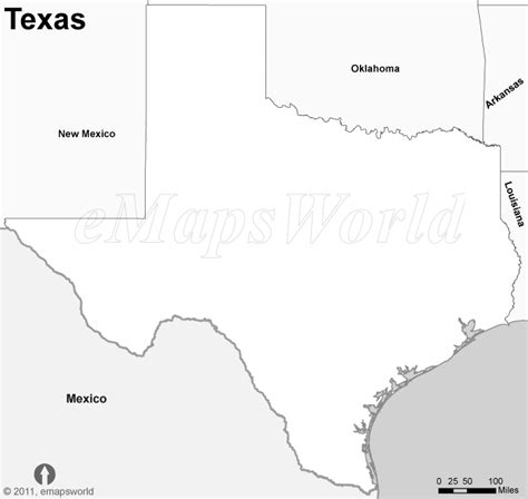 texas map outline with cities texas map black and white