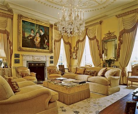Gold And Living Room by The Enchanted Home