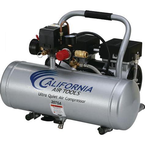 california air tools 2 0 gal 3 4 hp ultra and free aluminum tank air compressor 2075a