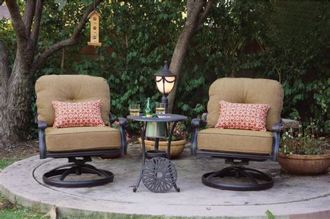 Swivel Patio Chairs By Foremost by Patio Furniture Cast Aluminum Seating Rocker Set
