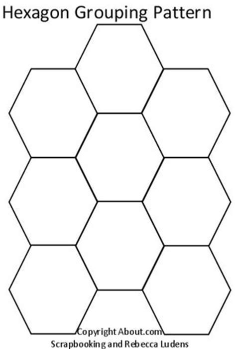 best photos of get hexagon shape cut out 6 hexagon