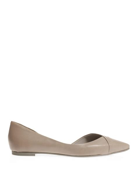 gray flat shoes mcq by mcqueen pointtoe flat shoes in gray grey