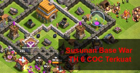 layout coc yg kuat gambar layout war base coc th 6 terkuat dengan air sweeper
