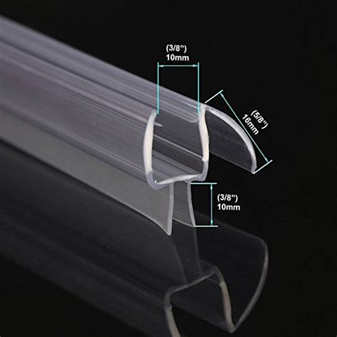 Bottom Of Shower Door Seal 28 Length 38 Frameless Shower Door Sweep Bottom Seal Wipe Drip Rail Plumbing E Shop
