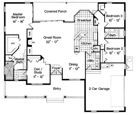 Dream House Blueprints classical style house plan 3 beds 2 baths 2062 sq ft