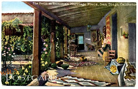 the patio at ramona s marriage place postcards