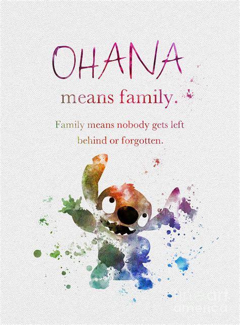 ohana means family mixed media by rebecca jenkins