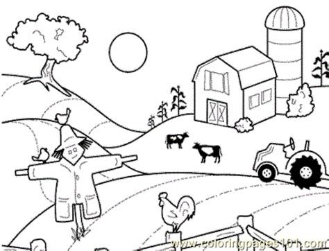 farm house coloring page free chicks hens and roosters