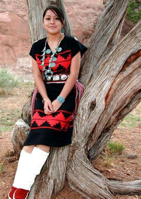 Navajo Rug Dress by Navajo In Traditional Navajo Rug Dress