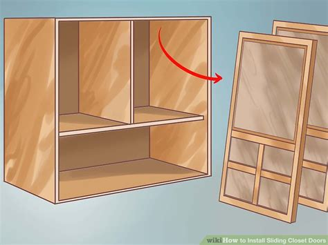 How To Install Sliding Closet Doors 11 Steps With Pictures How To Hang Sliding Closet Doors