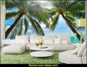 hawaiian wall murals decorating theme bedrooms maries manor tropical beach
