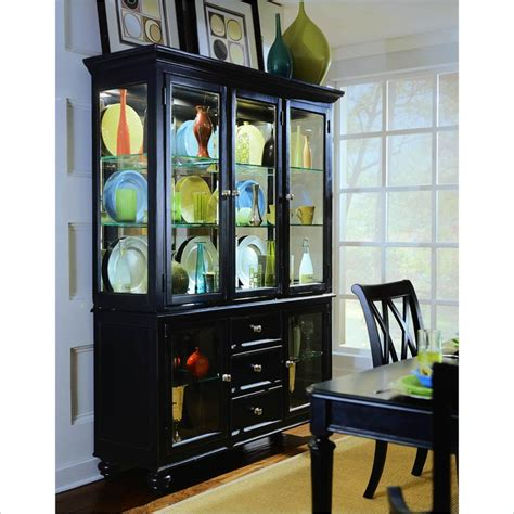 american drew china cabinet american drew camden black china cabinet 919 830r