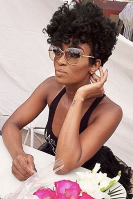 beautiful black women short hairstyle with sideburns gallery hairstyles for short ethnic hair