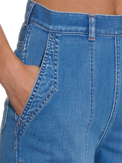 Uniforme Blue Culotte M m i h chambray western culottes in blue lyst