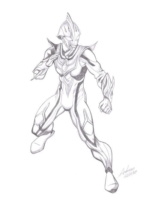 coloring page ultraman nexus ultraman pages coloring pages