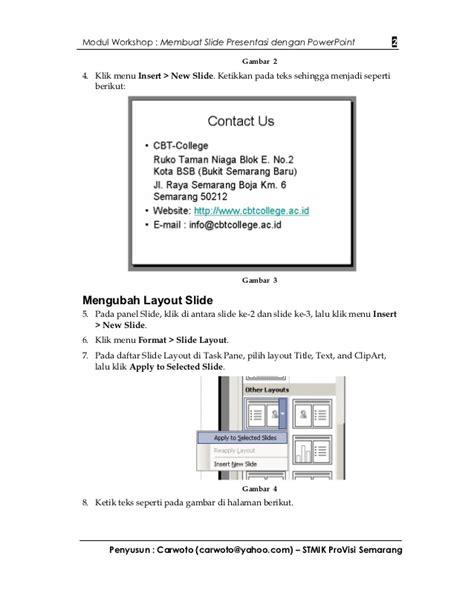 membuat infografis dengan powerpoint modul workshop membuat presentasi dengan powerpoint
