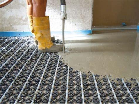 spessore massetto riscaldamento a pavimento slim massetto per sistemi di riscaldamento a pavimento